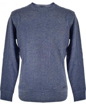 Diesel Blue S-Compton Crew Neck Sweatshirt