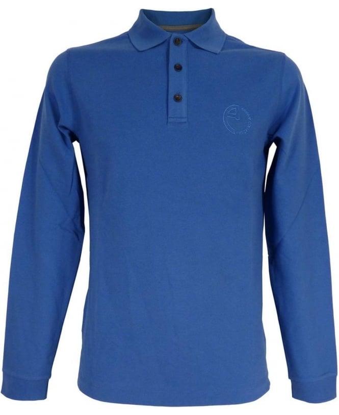Armani Blue SCM23J Long Sleeve Polo
