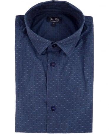 Armani Blue Short Sleeve C6C25LC Shirt