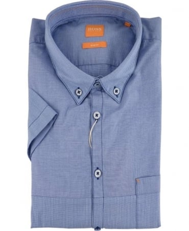 Hugo Boss Blue Short Sleeve 'ErollesE' Shirt