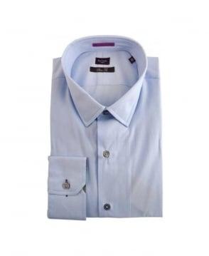 Paul Smith  Blue & Signature Stripe Detail Formal Shirt
