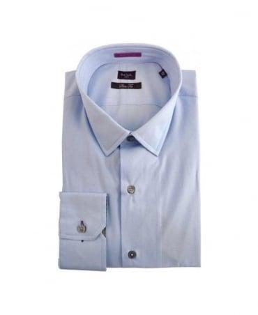 Paul Smith - London Blue & Signature Stripe Detail Formal Shirt