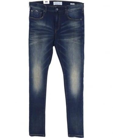 Scotch & Soda Blue 'Skim' Skinny Fit Jeans