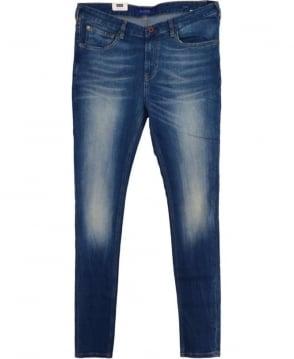 Scotch & Soda Blue Skim Slim Skinny Fit Jeans