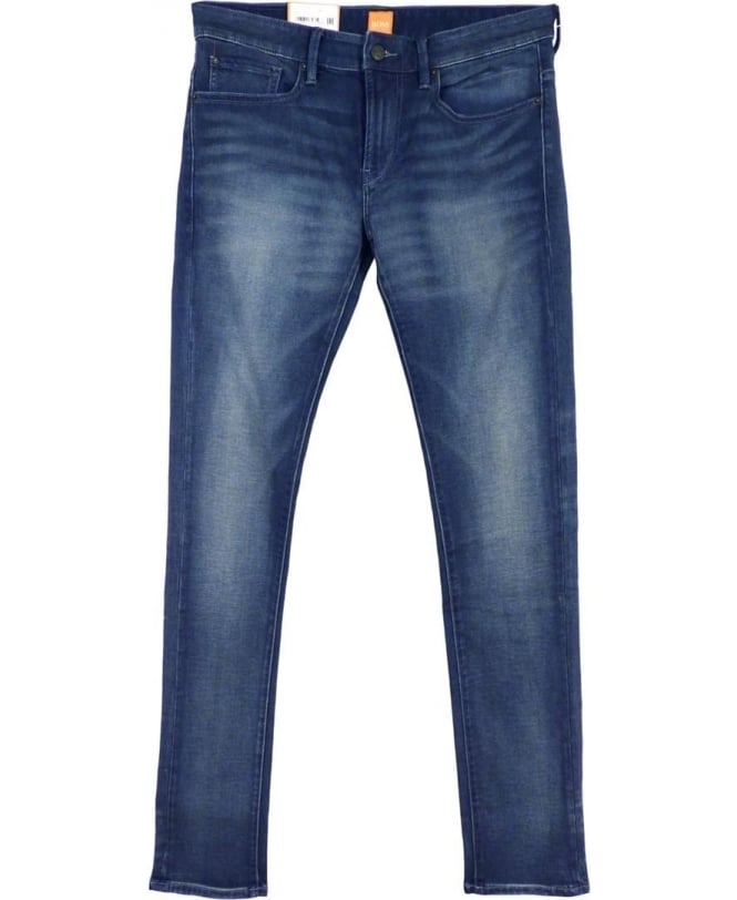 Hugo Boss Blue Skinny Fit Orange 72 Stretch Jean