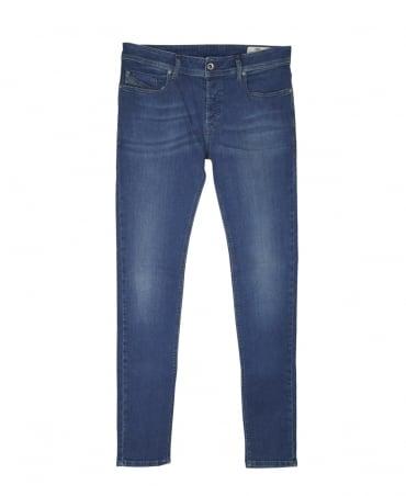 Diesel Blue Sleenker 0854E Skinny Jeans