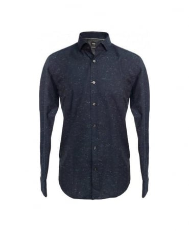 Hugo Boss  Blue Slim Fit Casual Shirt 'Mason_2'