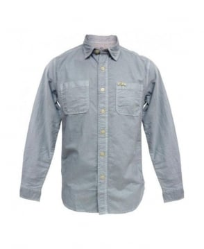 Replay Blue Slim Fit Casual Shirt
