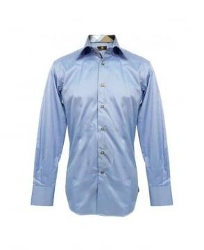 Circle of Gentlemen Blue Slim Fit Garnet 1 Shirt
