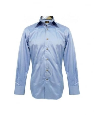 Circle of Gentlemen Blue Slim Fit Garnet 1 Shirt