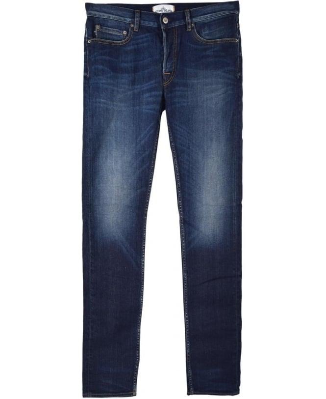 Stone Island Blue Slim Fit J1BGA Real Jeans