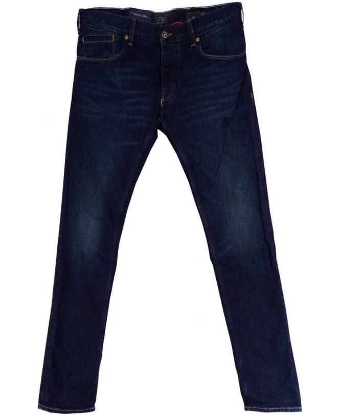 Armani Blue Slim Fit Low Waist J23 Jeans