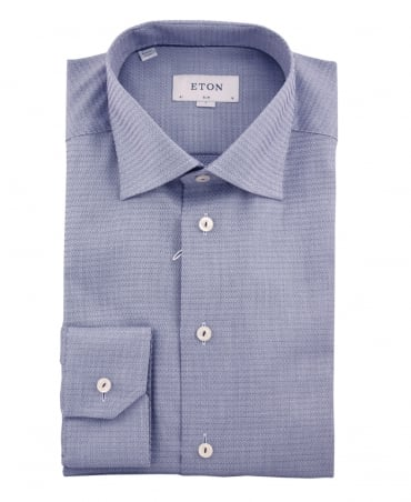 Eton Shirts Blue Slim Fit Signature Twill Shirt