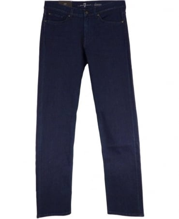 7 For All Mankind Blue Slimmy Luxe Performance Slim Fit Jeans