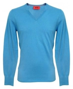 Hugo Blue Sorinus Knitwear 50249471 Jumper