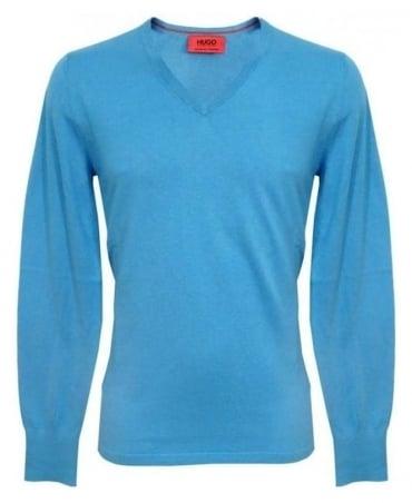 Hugo Blue Sorinus Knitwear 50249471 Jumper