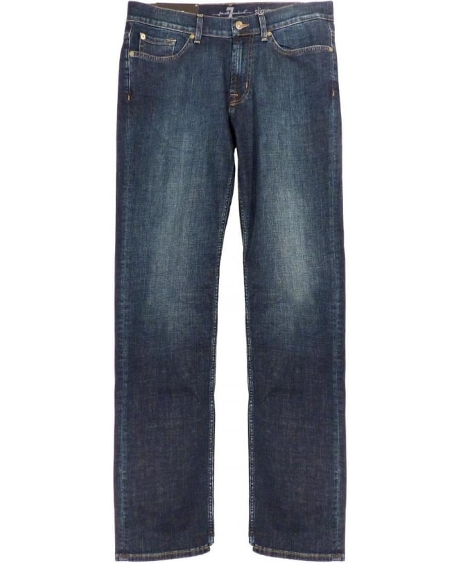 7 For All Mankind Blue 'South Night' Slimmy Slim Fit