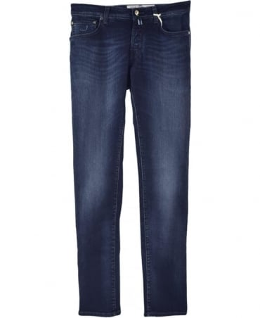 Jacob Cohen Blue Stretch J622 Italian Hand Made Jeans