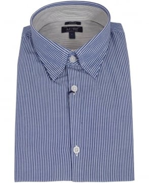 Armani Blue Stripe 06C68NH Fitted Shirt