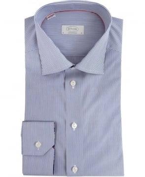 Eton Shirts Blue Stripe Contemporary Shirt