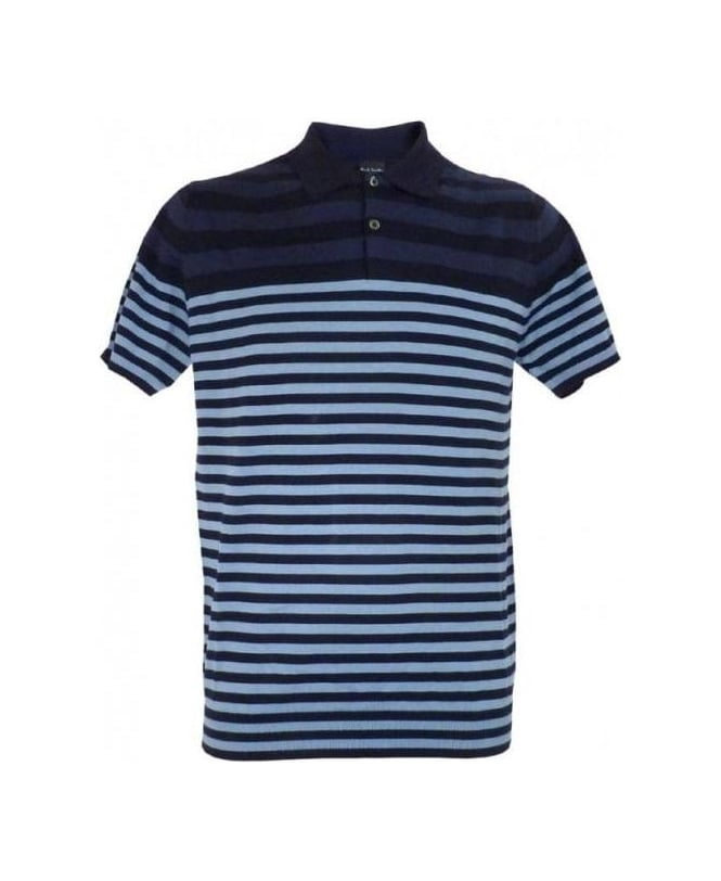 Paul Smith Blue Stripe Gents SS Polo