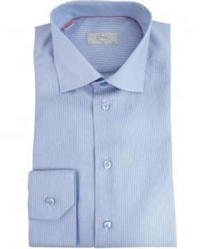 Eton Shirts Blue Stripe Slim Fit Shirt 304800657