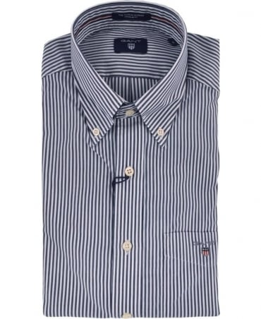 Blue Stripe 'The Poplin Banker' Shirt