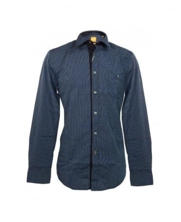 Hugo Boss Blue Striped E Slim E  Shirt