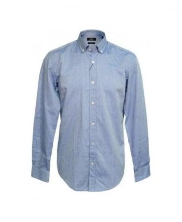 Hugo Boss Blue Sven Slim Fit Shirt