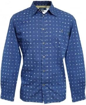 Paul Smith  Blue Symbol Pattern JKFJ/053N/726 Shirt