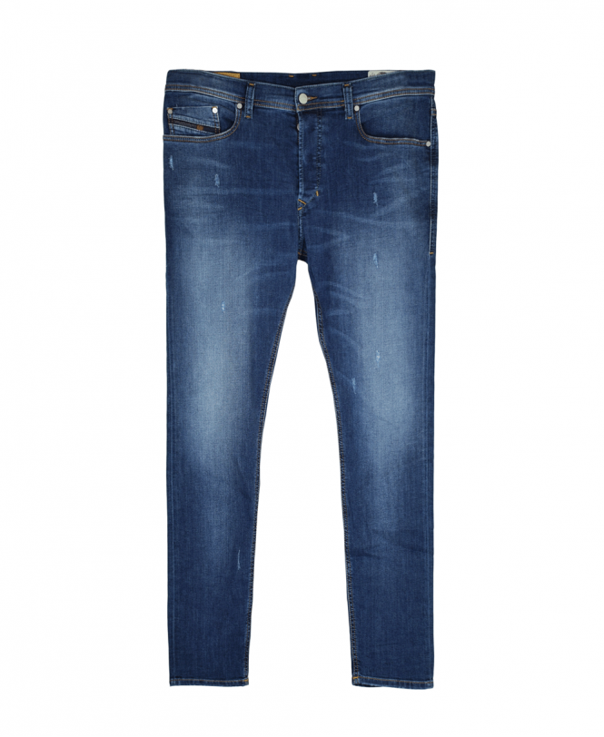 da04b872 Blue Tepphar Slim Fit Ultrasoft Denim Light Distress Jeans