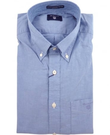 Gant Blue The Washed Pinpoint Oxford Button Down Shirt