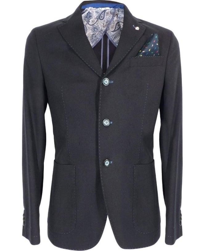 Manuel Ritz Blue Two Button Jacket