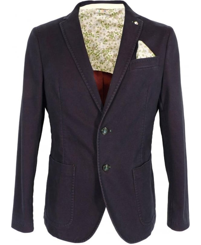 Manuel Ritz Blue Two Button Lavata Jacket