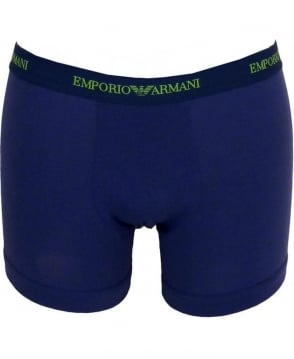 Armani Blue Two Pack Boxer Briefs