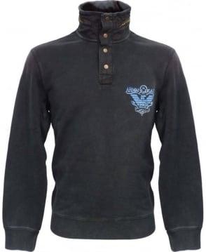 Armani Blue V6M29HQ Zip Away Hooded Sweatshirt