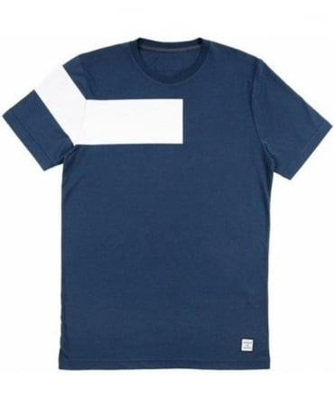 Serge DeNimes Blue Vintage Stripe Crew Neck T-Shirt