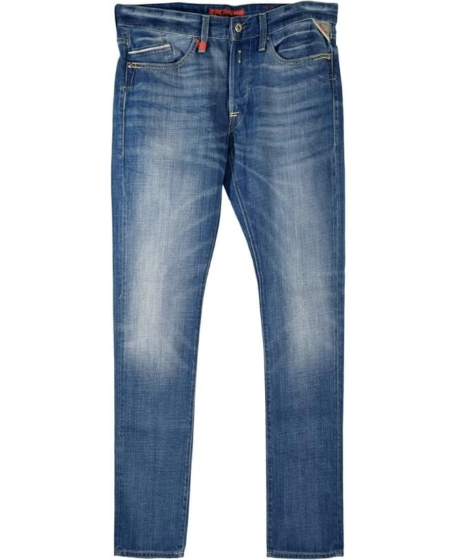 Replay Blue Waitom Regular Slim Fit Jeans