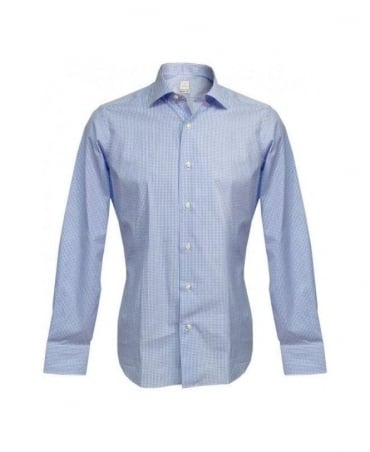 Bonser Blue & White Check Montego ST ML Shirt