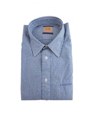Hugo Boss Blue & White Stripe Cieloebue Shirt