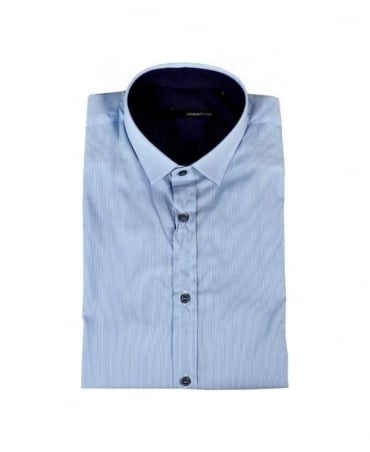 Hamaki-Ho Blue & White Stripe Shirt