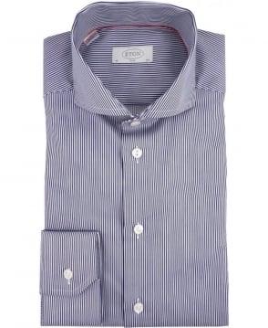 Eton Shirts Blue & White Stripe Slim Fit Shirt