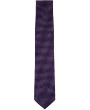 Hugo Boss Blue With Purple Micro Square Pattern Tie