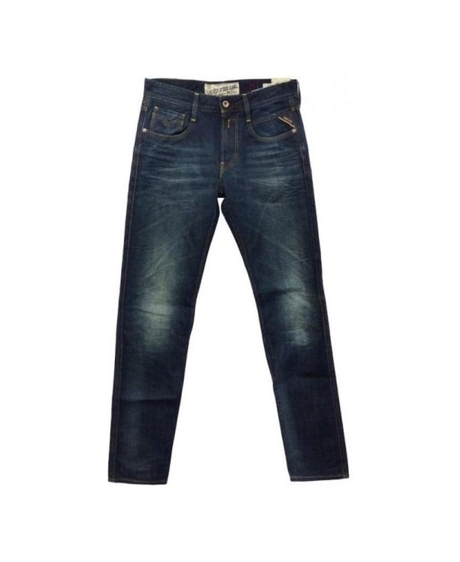 Replay Blue Zeppo Slim Fit Jeans MA944