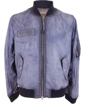 True Religion Bomber Jacket In Purple