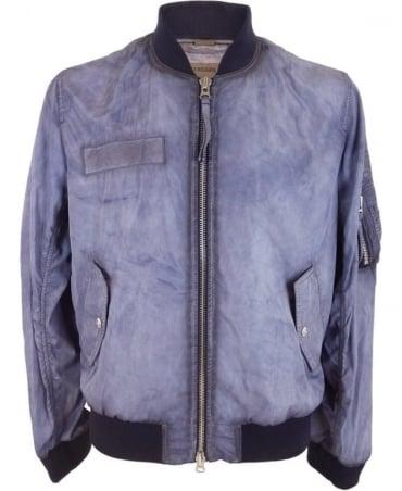 True Religion Bomber Jacket In Purple