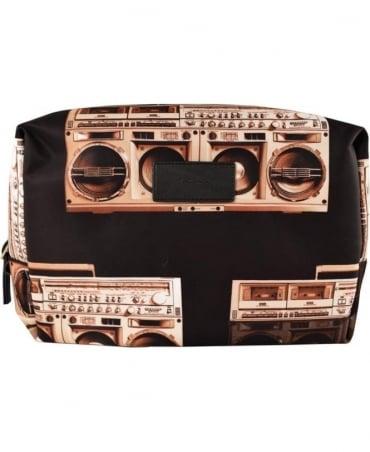 'Boom Box' Print Wash Bag