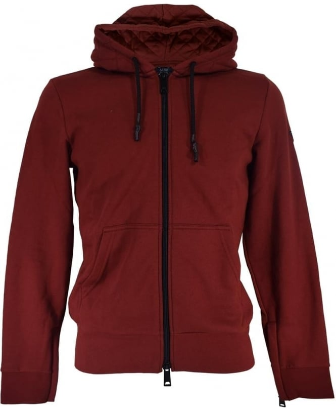 Armani Jeans Bordeaux 6X6M33 6JPAZ Hooded Sweatshirt