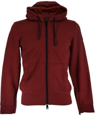 Armani Bordeaux 6X6M33 6JPAZ Hooded Sweatshirt