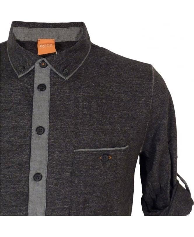 90f95ab39 Boss Charcoal Grey  Patcherman 1  Polo Shirt - Polos from Jonathan ...